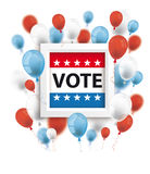 Vote 2016 Balloons Frame. Frame with balloons with text Vote on the white Stock Image