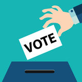 Vote ballot with box. Vector illustration Royalty Free Stock Photo