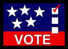 Vote banner Royalty Free Stock Image