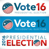 Vote 2016 Banner Royalty Free Stock Images