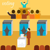 Vote banner Royalty Free Stock Photo