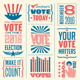 Vote banners Royalty Free Stock Photo