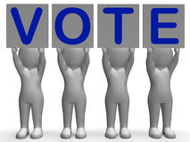 Vote Banners Shows Political Elections Or Choices Royalty Free Stock Image