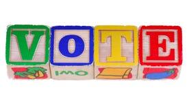 Vote in Blocks stock photo