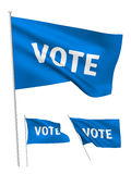 Vote - blue vector flags Stock Photography