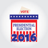 Vote box for presidential election. Vector illustration. Royalty Free Stock Photo