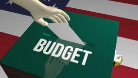 Vote on budget concept. 3D illustration Stock Photos