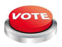 Vote button. Illustration of red vote button Stock Photography