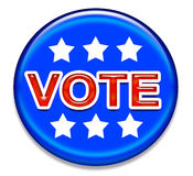 VOTE button 3 Royalty Free Stock Images