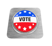 Vote Button Isolated. On white background. 3D render Stock Photography
