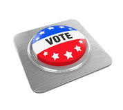 Vote Button Isolated. On white background. 3D render Stock Images