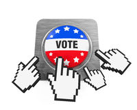 Vote Button Isolated. On white background. 3D render Royalty Free Stock Image