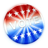 Vote button in red, white, and blue with stars Stock Photos