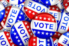 Vote button in red, white, and blue with stars Royalty Free Stock Image