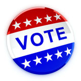 Vote button in red, white, and blue with stars Royalty Free Stock Images