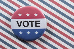 Vote button on red, white and blue Stock Image
