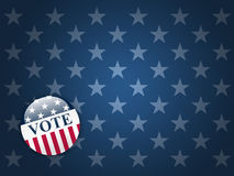 Vote Button on Stars Background. Desktop background with blue stars and vote button Royalty Free Stock Photos
