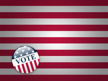 Vote Button on Stripes Background Stock Images