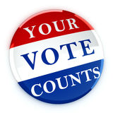 Vote button with Your Vote Counts Stock Image