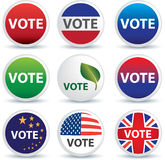Vote buttons or badges Stock Photography