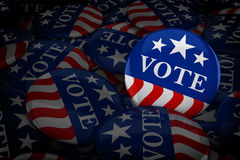 Vote buttons in red, white, and blue with stars Royalty Free Stock Photography