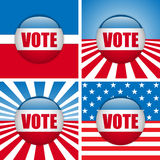 Vote Buttons. Set of four with Background Royalty Free Stock Image