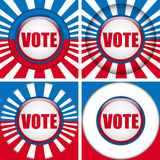 Vote Buttons. Set of four with Background Royalty Free Stock Photo