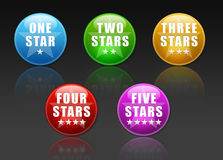 Vote Buttons with stars Stock Photo