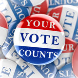 Vote buttons with Your Vote Counts Stock Images