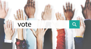 Vote Campaign Democracy Volunteer Concept.  royalty free stock images