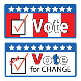 Vote for change Stock Photos