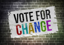 Vote for change Royalty Free Stock Images