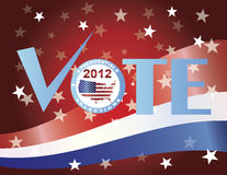 Vote Check Mark 2012 Presidential Election. Vote Check Mark Text 2012 Presidential Election Button Illustration Royalty Free Stock Image