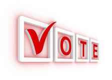 Vote with check mark Stock Image