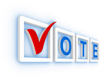 Vote with check mark Royalty Free Stock Images