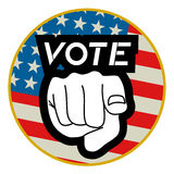 Vote circle icon Royalty Free Stock Image