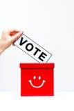 Vote. Concept with ballot box royalty free stock photos