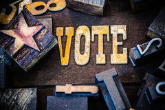 Vote Concept Wood and Rusted Metal Letters Royalty Free Stock Photo