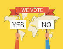 We vote Royalty Free Stock Images