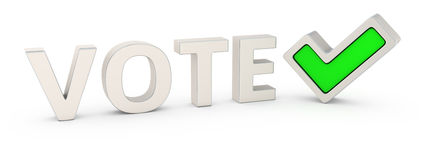 Vote correctly Royalty Free Stock Images