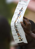 Vote counting at 2011 ugandan general elections Royalty Free Stock Image
