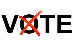 Vote with a cross royalty free illustration