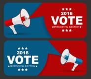 Vote 2016 d'élection présidentielle à l'arrière-plan des Etats-Unis Peut être a utilisé illustration libre de droits