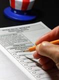 Vote d'absent Image libre de droits
