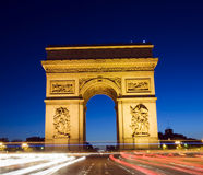 Voûte d'Arc de Triomphe de triomphe Paris France Images stock