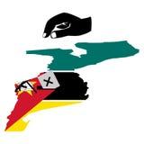 Vote dans l'élection de la Mozambique Photographie stock libre de droits