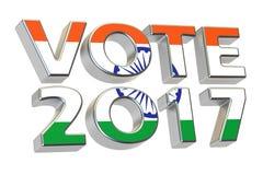 Vote 2017 dans l'Inde Concept indien d'élection, rendu 3D Images libres de droits