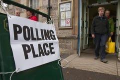 Vote dans le référendum écossais 2014 de l'indépendance Photos libres de droits
