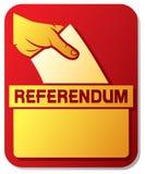 Vote dans le référendum illustration de vecteur