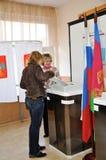 Vote dans les élections Photo stock